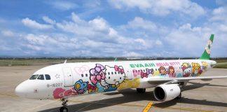 Hello Kitty彩繪飛機-3